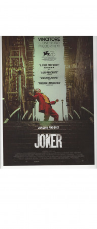 "2019 * Locandina Cinema ""JOKER - Joaquin Phoenix, Todd Phillips"" Dramma, Thriller (A)"