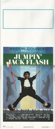 "1987 * Locandina Cinema ""Jumpin' Jack Flash - Whoopi Goldberg"" Commedia (B+)"