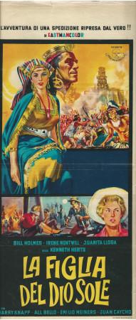 """(1963) * Locandina Cinema """"La Figlia del Dio Sole - Lisa Montell"""" Avventura (B-)"""