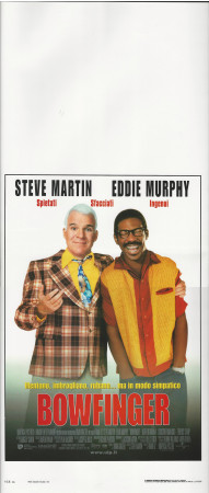 "1999 * Locandina Cinema ""Bowfinger - Steve Martin, Eddie Murphy"" Commedia (B+)"