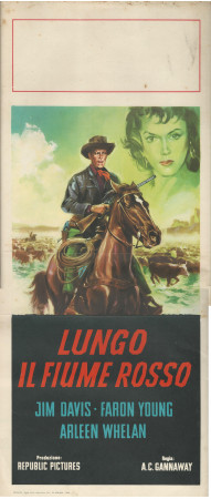 "1964 * Locandina Cinema ""Lungo il Fiume Rosso - Lee Van Cleef"" Western (B)"