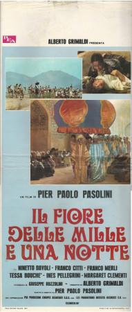 """1974 * Locandina Cinema """"Il Fiore delle Mille e una Notte - Pasolini"""" Commedia (B-)"""