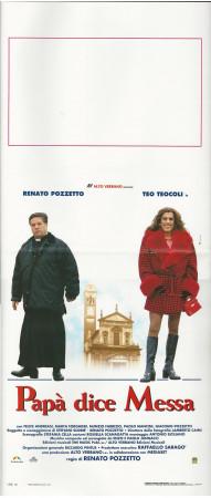 """1996 * Locandina Cinema """"Papà dice Messa - Renato Pozzetto, Teo Teocoli"""" Comico (B+)"""