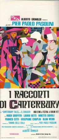 """1972 * Locandina Cinema """"I Racconti di Canterbury - Pasolini"""" Commedia (B-)"""