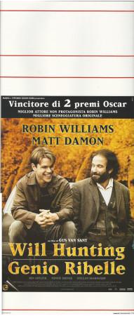 "1998 * Locandina Cinema ""Will Hunting Genio Ribelle - Robin Williams, Matt Damon"" Dramma (B+)"