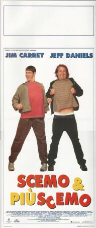 "1995 * Locandina Cinema ""Scemo & + Scemo - Jim Carrey, Jeff Daniels"" Comico (B+)"