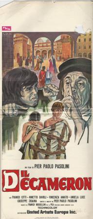"""1971 * Locandina Cinema """"Il Decameron - Pasolini"""" Commedia (C-)"""