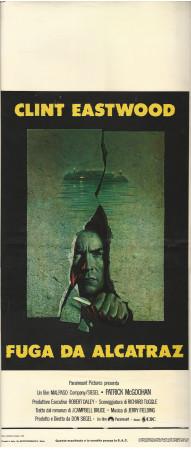 "1979 * Locandina Cinema ""Fuga da Alcatraz - Clint Eastwood"" Dramma (B+)"