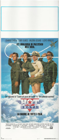 "1991 * Locandina Cinema ""Hot Shots! - Charlie Sheen, Valeria Golino"" Comico (B+)"
