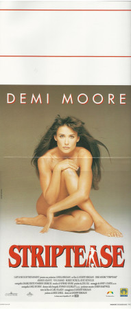 "1996 * Locandina Cinema ""Striptease - Demi Moore"" Dramma (B)"