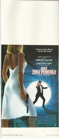 """1987 * Locandina Cinema """"007 Zona Pericolo (The Living Daylights) - T Dalton"""" Spionaggio (B+)"""