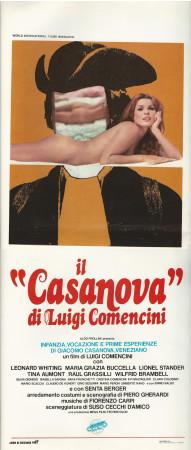 """1969 * Locandina Cinema """"Esperienze di Giacomo Casanova - L Comencini"""" Commedia (B)"""