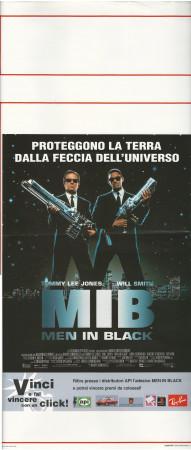 "1997 * Locandina Cinema ""MIB Men in Black - Tommy Lee Jones, Will Smith"" Fantastico (B+)"