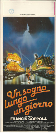 """1982 * Locandina Cinema """"Un Sogno Lungo un Giorno - Francis Ford Coppola"""" Commedia (B)"""