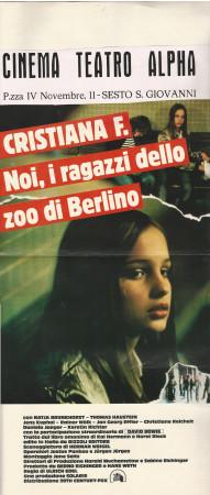 "1981 * Locandina Cinema ""Christiane F. - Noi i ragazzi dello zoo di Berlino - N Brunckhorst"" Dramma (B)"