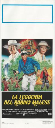 "(1985) * Locandina Cinema ""La Leggenda del Rubino Malese - Lee Van Cleef "" Avventura (B+)"