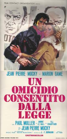 """1972 * Locandina Cinematografica Originale """"Un Omicidio Consentito Dalla Legge - Paul Muller"""""""