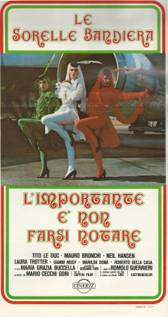 """1979 * Locandina Cinematografica Originale """"L'Importante É Non Farsi Notare - Le Sorelle Bandiera"""""""