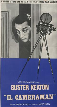 """1970 * Locandina Cinematografica Originale """"Il Cameraman - Buster Keaton"""""""
