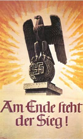 """ND (WWII) * Propaganda di Guerra Riproduzione """"Germania - Alla Fine La Vittoria!"""" in Passepartout"""