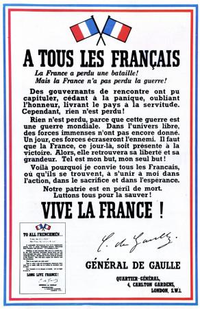 """ND (WWII) * Propaganda di Guerra Riproduzione """"Francia - A Tutti I Francesi"""" in Passepartout"""