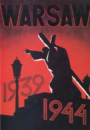 """ND (WWII) * Propaganda di Guerra Riproduzione """"Varsavia 1939-1944"""" in Passepartout"""