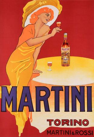 """1950 ca * Manifesto Pubblicitario Originale """"Martini e Rossi - Torino - M. Dudovich"""" Non Telato"""
