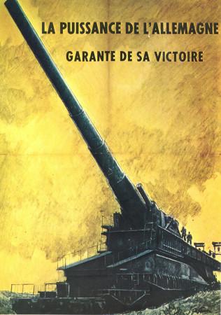 "ND (WWII) * Propaganda di Guerra Riproduzione ""Governo Di Vichy - Potenza Germania Garanzia Di Vittoria"" in Passepartout"