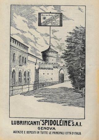 """1929 * Pubblicità Originale """"Spidolèine - Olio Per Auto - RICO"""" in Passepartout"""