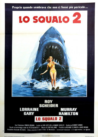 "1978 * Manifesto 2F Cinema ""Lo Squalo 2 - Roy Scheider, Murray Hamilton, Lorraine Gary"" Drammatico (B+)"