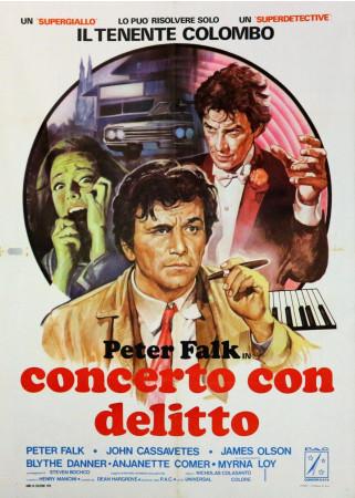 """1978 * Manifesto 2F Cinema """"Tenente Colombo Concerto con Delitto - Peter Falk"""" Poliziesco (B)"""