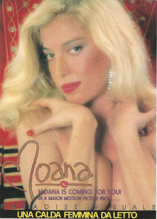 "1988 * Locandina Cinema ""Una Calda Femmina da Letto - Moana Pozzi"" Hard (A)"