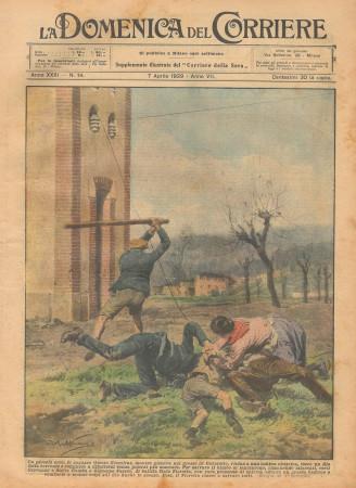 """1929 * Rivista Storica Originale """"La Domenica Del Corriere (N°14) - Un Piccolo Eroe"""""""