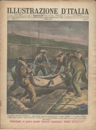 """1946 * Illustrazione D'Italia (N°18) – """"Salma di Mussolini Trafugata"""" Rivista Originale"""