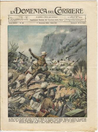 """1935 * La Domenica Del Corriere (N°48) """"Vittoria Generale Mariotti nella Stretta dell'Ende"""" Rivista Originale"""