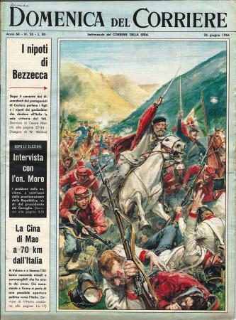 """1966 * La Domenica Del Corriere (N°26) """"I Nipoti di Bezzecca - Mary Quant Cavaliere"""" Rivista Originale"""