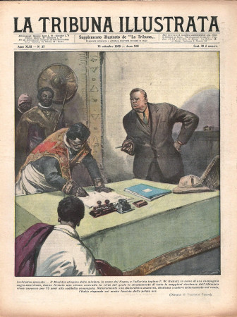 """1935 * Rivista Storica Originale """"La Tribuna Illustrata (N°37) - Inchiostro Sprecato"""""""