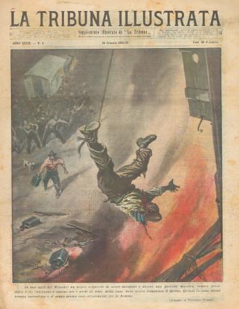 """1931 * Rivista Storica Originale """"La Tribuna Illustrata (N°4) - Nero Bruciato Vivo Dalla Folla"""""""