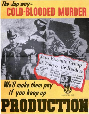 """ND (WWII) * Propaganda di Guerra Riproduzione """"USA - Assassinio A Sangue Freddo"""" in Passepartout"""