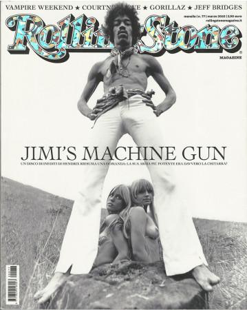 "2010 (N77) * Copertina Rolling Stone Originale ""Jimi Hendrix"" in Passepartout"