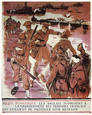 "ND (WWII) * Propaganda di Guerra Riproduzione ""Governo Di Vichy - 1940 Dunkerque"" in Passepartout"