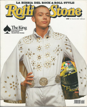 "2003 (N2) * Copertina Rolling Stone Originale ""Valentino Rossi"" in Passepartout"