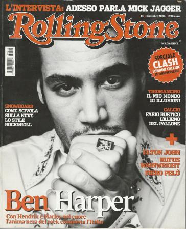 "2004 (N14) * Copertina Rolling Stone Originale ""Ben Harper"" in Passepartout"