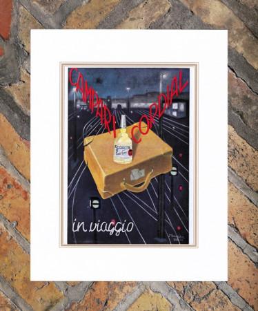 """1939 * Pubblicità Originale """"Campari Cordial In Viaggio –  BIANCHI ALBERTO"""" in Passepartout"""