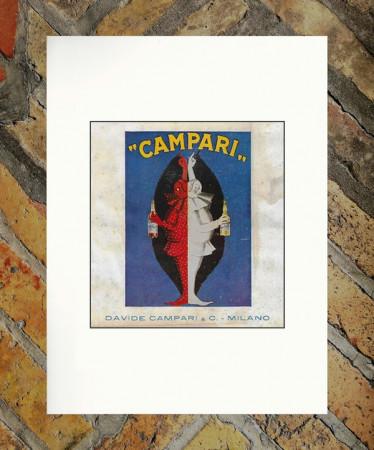 """1926 * Pubblicità Originale """"Campari Milano –  CAPPIELLO"""" in Passepartout"""