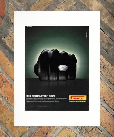 "2003 * Pubblicità Originale ""Pirelli – Jaguar – ARMANDO TESTA"" in Passepartout"