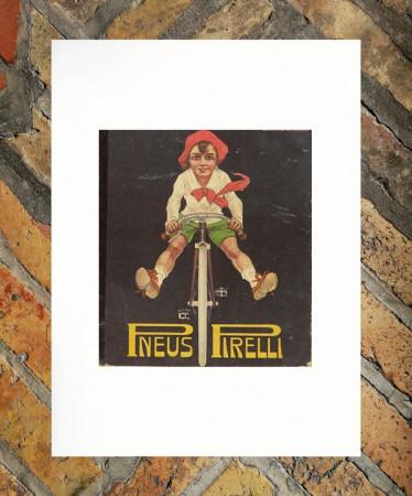 """1917 * Pubblicità Originale """"Pirelli – Pneus - CODOGNATO"""" in Passepartout"""