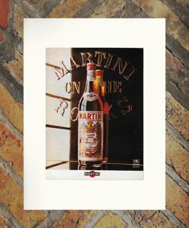 """1977 * Pubblicità Originale """"Martini – Rosso"""" in Passepartout"""