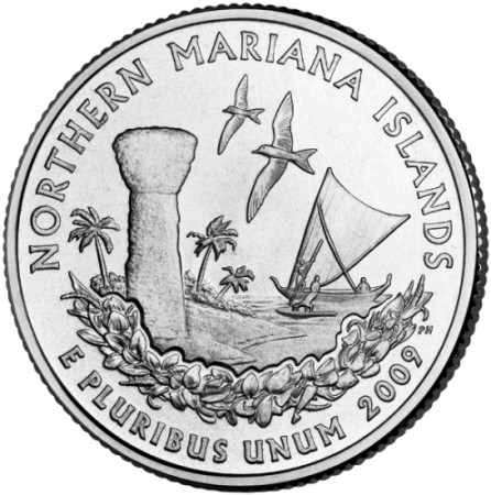 2009 * Quarto di dollaro Stati Uniti Northern Mariana Islands (D)