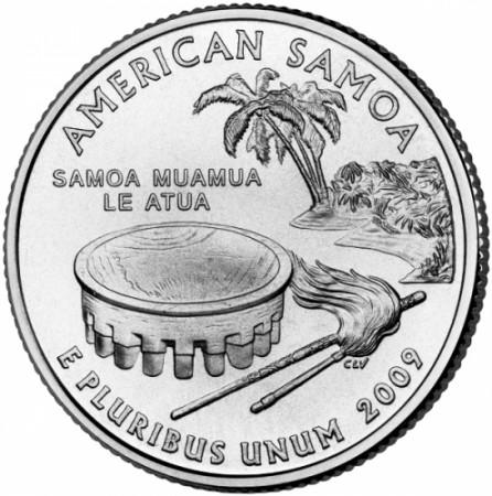 2009 * Quarto di dollaro Stati Uniti American Samoa (D)